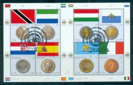 UN Vienna 2007 Flags & Coins MS CTO Lot66102 - Wien - Internationales Zentrum