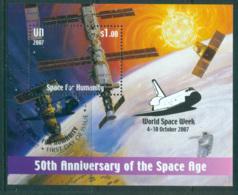 UN Vienna 2007 Space For Humanity Opt Space Week MS CTO Lot66013 - Wien - Internationales Zentrum