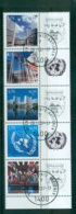 UN Vienna 2007 UN Symbols Str 5 + Labels CTO Lot66072 - Wien - Internationales Zentrum