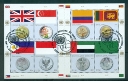 UN Vienna 2008 Flags & Coins MS CTO Lot66008 - Wien - Internationales Zentrum