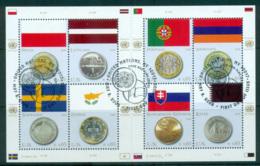 UN Vienna 2008 Flags & Coins MS CTO Lot66082 - Wien - Internationales Zentrum