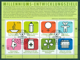 UN Vienna 2009 Aid Sheetlet CTO Lot65969 - Wien - Internationales Zentrum