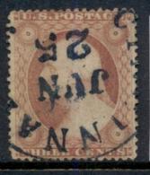 USA 1857-61 Sc#26 3c Washington FU - 1847-99 Emisiones Generales