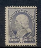USA 1887 Sc#212 1c Franklin FU - 1847-99 Emisiones Generales
