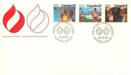 1976  Montreal Olympics  Opening Ceremonies  Sc 681-3 - Omslagen Van De Eerste Dagen (FDC)