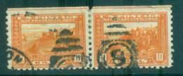 USA 1914-15 Sc#404 10c Panama-Pacific Exposition Perf 10 Pr FU Lot67308 - Unclassified