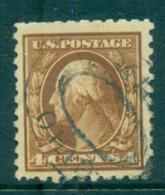 USA 1916-17 Sc#465 4c Orange Brown Washington Perf 10 No Wmk FU Lot69059 - Etats-Unis