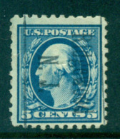USA 1916-17 Sc#466 5c Blue Washington Perf 10 No Wmk FU Lot69066 - Etats-Unis