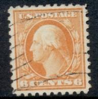 USA 1916-17 Sc#468 6c Red Orange Washington Perf 10 No Wmk FU - Etats-Unis