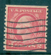 USA 1916-19 Sc#492 2c Carmine Washington TyIII Rotary Perf 10 Vert No Wmk FU Lot69399 - United States