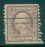 USA 1916-19 Sc#493 3c Violet Washington TyI Rotary Perf 10 Vert No Wmk FU Lot69403 - Etats-Unis