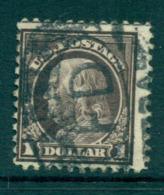 USA 1917-19 Sc#518 $1 Violet Brown Franklin Perf 11 No Wmk FU Lot69292 - United States