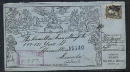 USA 1919 8c Martha Washington, Stamp Dealer, Lookalike Mulready Cover - Non Classificati