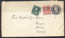 USA 1920 Uprated Washington 1c, 2c Cover To Norway - Unclassified