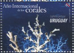 URUGUAY-2018- FDC  DE¡el Año Internacional De Los Corales.TT: Flora Marina. - Uruguay