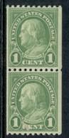 USA 1923-29 Sc#604 Franklin 1c Perf 10 Horiz Coil Pr MUH - Non Classificati