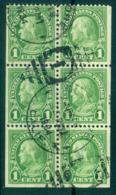 USA 1926-34 Sc#632a 1c Franklin P 11x10.5 (Rotary)Booklet Pane FU Lot67906 - Non Classés