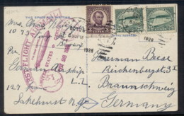 USA 1928 (Oct 29) PPC Sent By Zeppelin LZ127 Flight To Germany AAMC #Z-56, 'FIRST FLIGHT AIRMAIL/VIA GRAF ZEPPELIN/UNITE - Unclassified