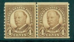 USA 1930 Sc#687 4c Taft Coil Perf 10 Vert (Rotary) Line Pr MUH Lot68111 - Etats-Unis