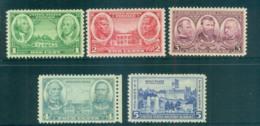 USA 1936-37 Sc#785-89 Army Issue MLH Lot67445 - Estados Unidos
