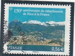 FRANCE 2010 OBLITERE A DATE 150E ANNIVERSAIRE DU RATTACHEMENT DE NICE YT 4457 - - France