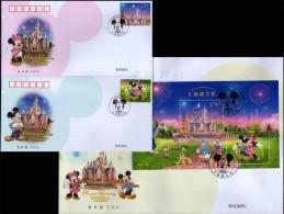 CHINA 2016-14 FDC 迪士尼 Stamp Shanghai DisneyLand Disney Mickey Opening - Disney