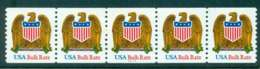 USA 1993 Sc#2603 Eagle & Shield USA Bulk Rate (org-yel ) Coil P#11111 Str 5 MUH Lot47608 - United States