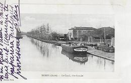 11)   HOMPS  -  Le  Canal Rive Gauche  (  Péniche  ) - Autres Communes