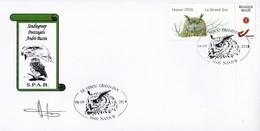 "FDC ""Oehoe"" Met Stempel Namur 08-09-2018 - 1985-.. Oiseaux (Buzin)"