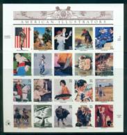 USA 2001 Sc#3502 American Illustrators Pane 20 MUH Lot53762 - United States