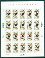 USA 2002 Sc#3650 American Treasures Pane 20 MUH Lot33735 - United States