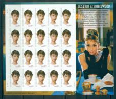 USA 2003 Sc#3786 Audrey Hepburn Pane 20 MUH Lot53885 - United States