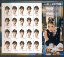 USA 2003 Sc#3786 Legends Of Hollywood, Audrey Hepburn Pane 20 MUH - United States