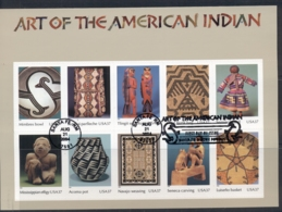 USA 2004 Sc#3873 Art Of The American Indian MS FU - United States