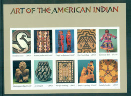 USA 2004 Sc#3873 Art Of The American Indian Pane 10 MUH Lot53934 - United States