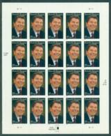USA 2005 Sc#3897 Ronald Reagan Pane 20 MUH Lot33739 - United States