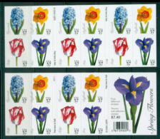USA 2005 Sc#3900-03 Spring Flowers Booklet Pane 20 MUH Lot53977 - United States