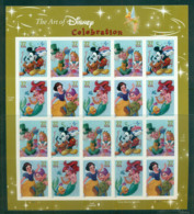 USA 2005 Sc#3912-15 Disney Characters Pane 20 MUH Lot53981 - United States