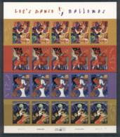 USA 2005 Sc#3939-42 Let's Dance,Bailemos Pane 20 MUH - United States