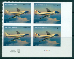 USA 2007 Sc#4144 $4.60 Air Force One Blk 4 MUH Lot33757 - United States