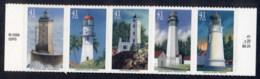 USA 2007 Sc#4146-50 Lighthouses Str5 MUH - United States