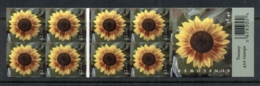 USA 2008 Sunflowers Booklet Pane Double Sided MUH - United States