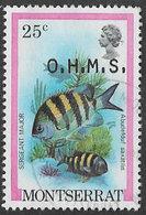 Montserrat SG O46 1981 Official 25c Good/fine Used [38/31696/1D] - Montserrat
