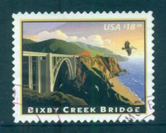 USA 2010 Sc#4439 $18.30 Bixby Creek Bridge FU Lot52991 - United States