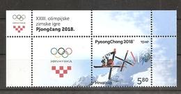 CROATIA,CROATIEN, 2018,WINTER OLYMPIC GAMES  PYEONGCHANG 2018,KOREA,VIGNETTE,MNH - Winter 2018: Pyeongchang