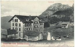 Gruss Vom Hotel Bellevue AXALP Gel. 1904 V. Giessbach Brienz N. Oberbrügge Stempel Hotel 9. Sep. 1904 - BE Bern