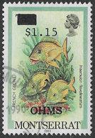 Montserrat SG O92 1989 Official $1.15 On 75c Good/fine Used [38/31698/1D] - Montserrat