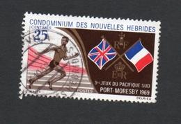 1969 PORT MORESBY SOUTH PACIFIC GAMES Nouvelles Hebrides 25c  Yvert Tellier No. 282 Timbre Usagee, Sans Charniere - Légende Française