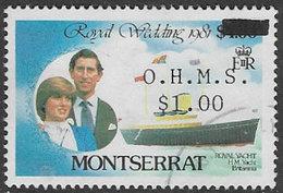 Montserrat SG O57 1982 Official $1 On $4 Good/fine Used [38/31699/1D] - Montserrat