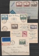 Collection De 47 Plis Poste Aérienne - Belgique & Congo - 1e Liaisons, Vols & Raids Spéciaux (Rubin, Hansez,…) - Superbe - Poststempels/ Marcofilie